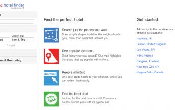 Google Hotel Finder Disponibile in Italiano