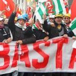 Protesta Operai Alcoa Portovesme