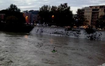 Nubifragio a Roma Allarme Tevere Evacuati a Fiumicino