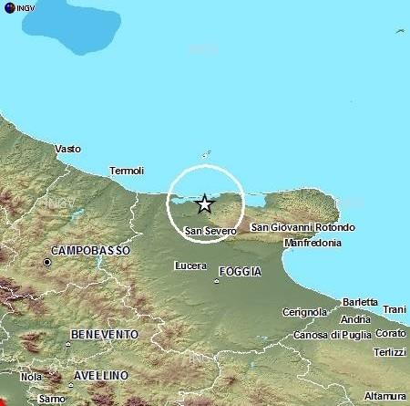Terremoto Oggi Foggia Gargano