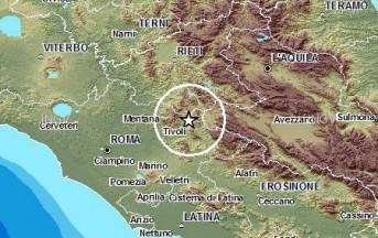 Terremoto oggi in provincia di Roma, scossa vicino a Tivoli