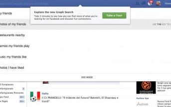 Graph Search, il motore di ricerca di Facebook è arrivato in Italia