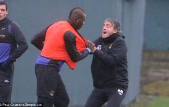 Lite tra Mancini e Balotelli: Rissa in Allenamento al Manchester City