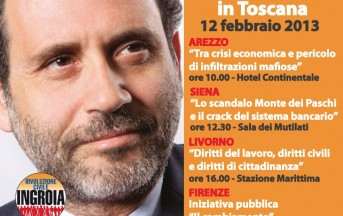 Elezioni 2013: Antonio Ingroia  e Rivoluzione civile, la tappa toscana.