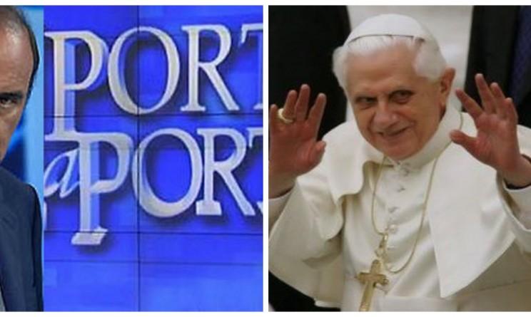 Il papa abdica stasera la puntata speciale di porta a - Porta a porta ospiti stasera ...