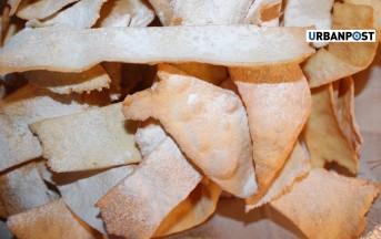Ricetta frappe o chiacchiere di carnevale con grappa al forno (Foto)