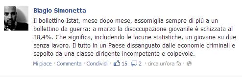 Facebook Biagio Simonetta