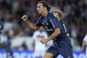 Paris Saint-Germain's Swedish forward Zl