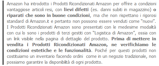 amazon prodotti ricondizionati