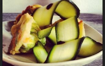 Fiori di zucchina in tempura ricetta