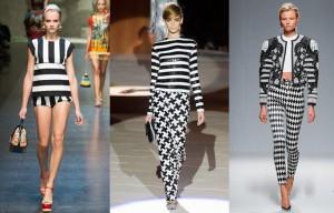 moda bianco e nero