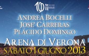 Stasera in diretta Tv: Concerto Arena di Verona 2013