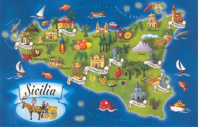 Vacanze low cost in sicilia dove andare urbanpost mappa sicilia thecheapjerseys Image collections