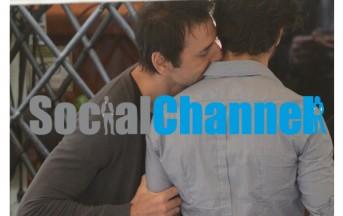 Marco Bocci: questa volta il bacio è con un uomo (foto)