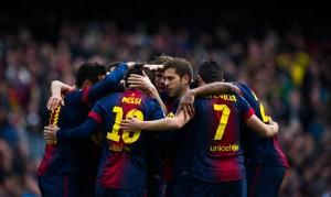Barcellona esultanza