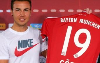 Bayern Monaco, gaffe di Gotze: maglia della Nike durante la presentazione