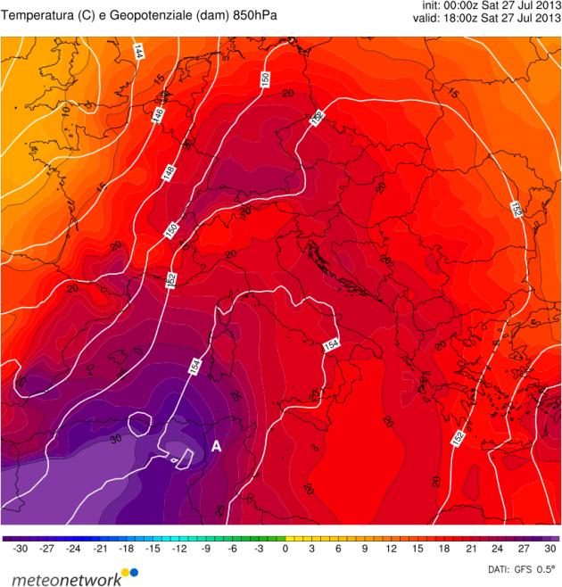 Meteo prossimi giorni caldo intenso 28 29 luglio 2013
