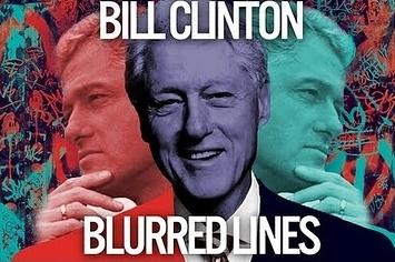 blurred lines bill clinton