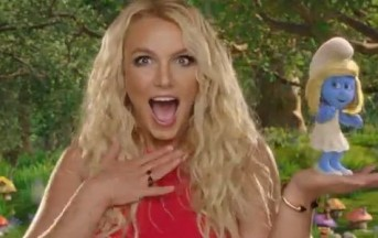 Britney Spears e Katy Perry in blu per l'anteprima de I Puffi 2