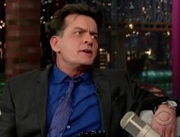Charlie Sheen al David Letterman Show
