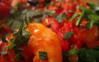 Spaghetti gamberi e pomodori ricetta