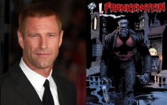 Aaron Eckhart il Moderno Prometeo in I Frankenstein