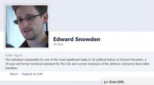 Snowden facebook