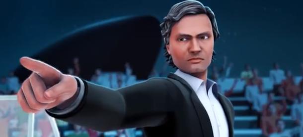 Josè mourinho protagonista di un cartone animato video