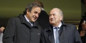 Michel Platini e Sepp Blatter