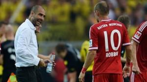 Pep Guardiola e Arjen Robben