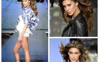 Belen Rodriguez modella hot: lato B in bella vista sulla passerella di Imperfect