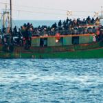 soccorso gommone immigrati