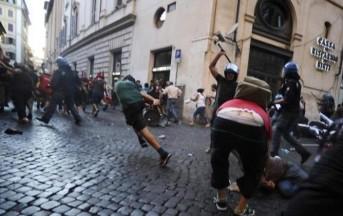 Roma, in atto guerriglia urbana dei movimenti per la casa