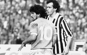 VIDEO – Platini vs Maradona: Juventus-Napoli è anche questo