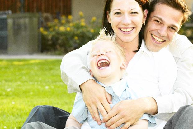 famiglia sorriso