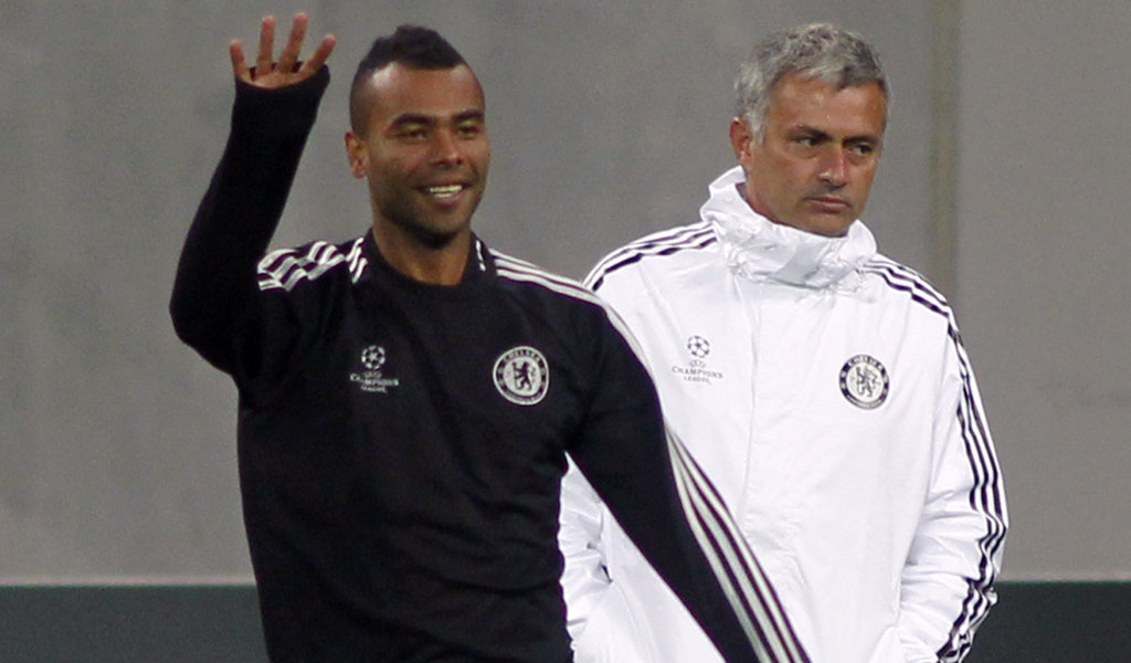 Ashley Cole e José Mourinho
