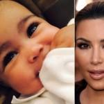 Kim Kardashian e sua figlia