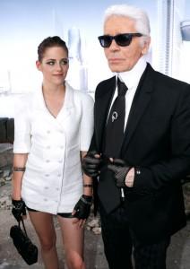 Kristen Stewart e Karl Lagerfeld Chanel2