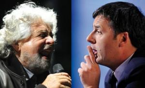 La sfida Grillo e Renzi