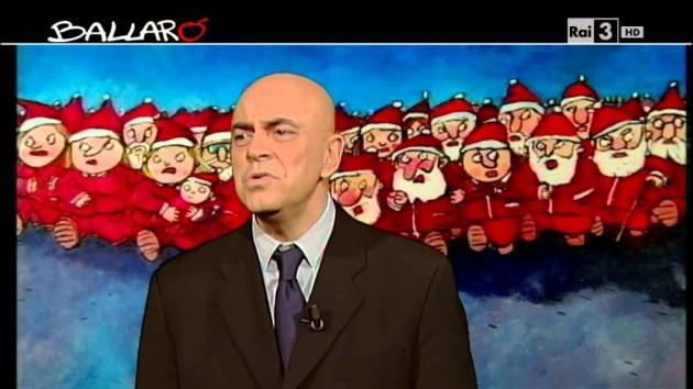 Crozza Copertina Ballarò 17 dicembre: Napolitano e la Pensione Marisa, la mancanza del clima natalizio e Papa Francesco (Video)