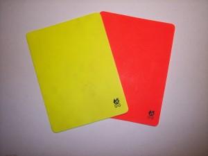 Cartellino giallo e rosso2
