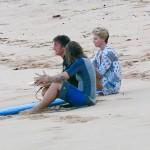 Theron e Penn sulla spiaggia