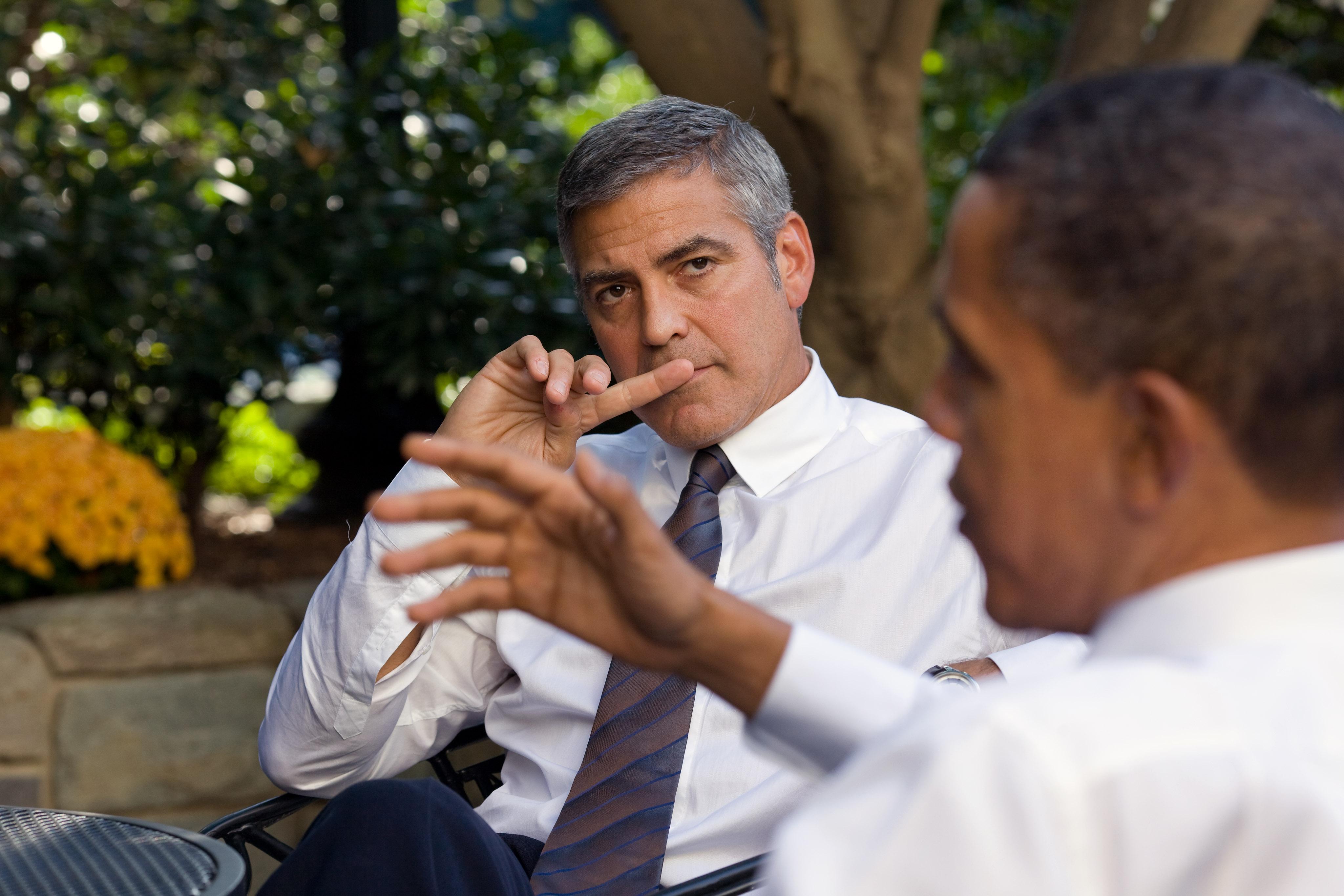 George Clooney Casa Bianca Barack Obama