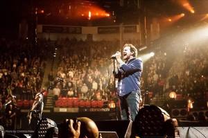 un momento del concerto Pearl Jam