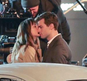 Dakota e Jamie sul set
