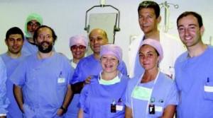 Alberto Ranieri De Caterina e il team di cardiologia interventistica