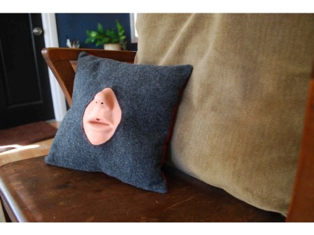 Could you face a kiss with this make-out pillow?