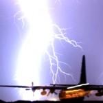 Fulmine su aereo