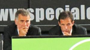Mauro Tassotti e Massimiliano Allegri