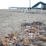 Mozziconi in spiaggia